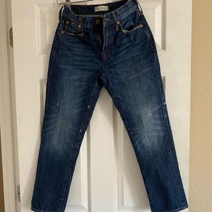 Madewell cropped straight leg jeans